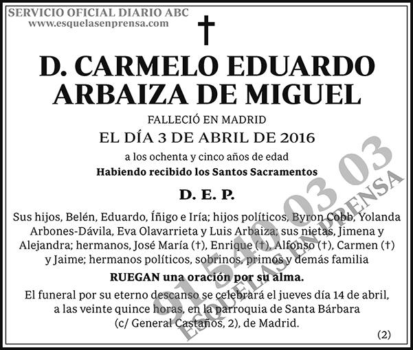 Carmelo Eduardo Arbaiza de Miguel